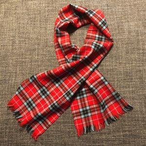 100% wool Dress Red MacTavish tartan scarf.